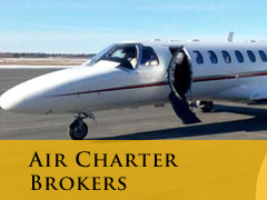 air charter brokers vertical banner