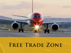 Free Trade zone vertical banner